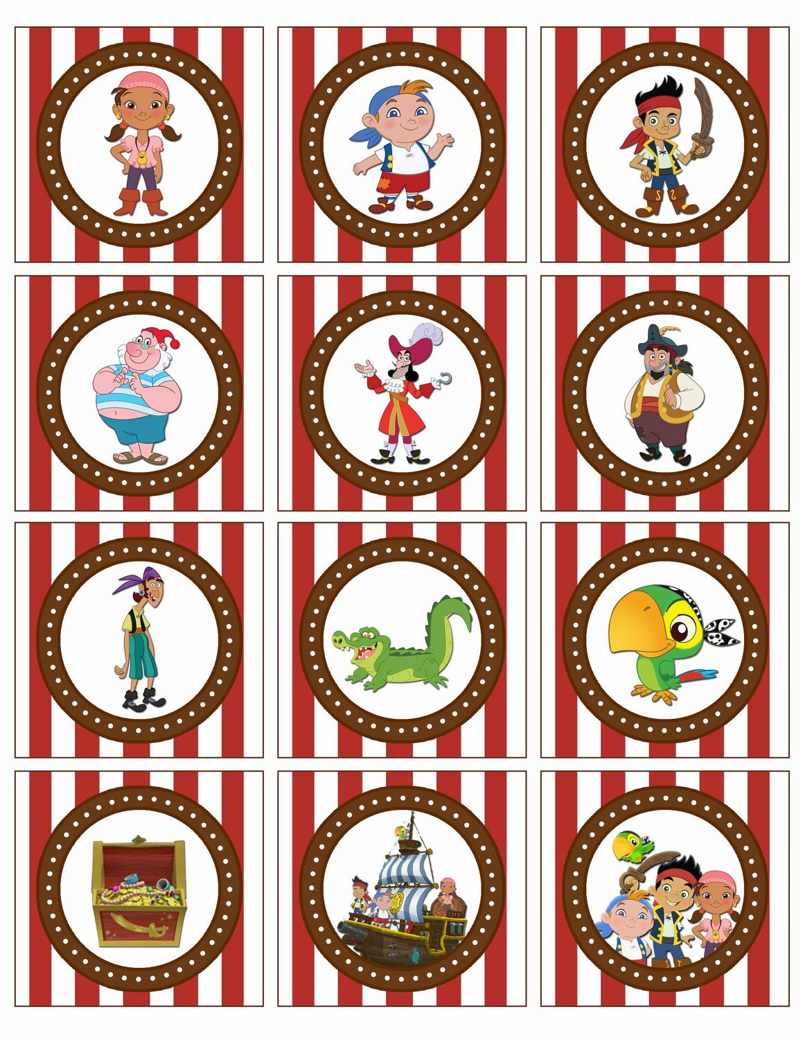 jake and the neverland pirates free printables | Jake and the ...