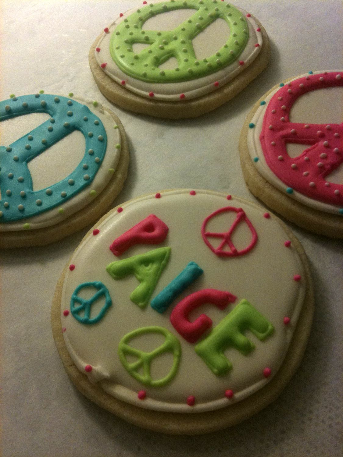 Peace Sign cookies reserved for Pattyanne Daigle in 2019
