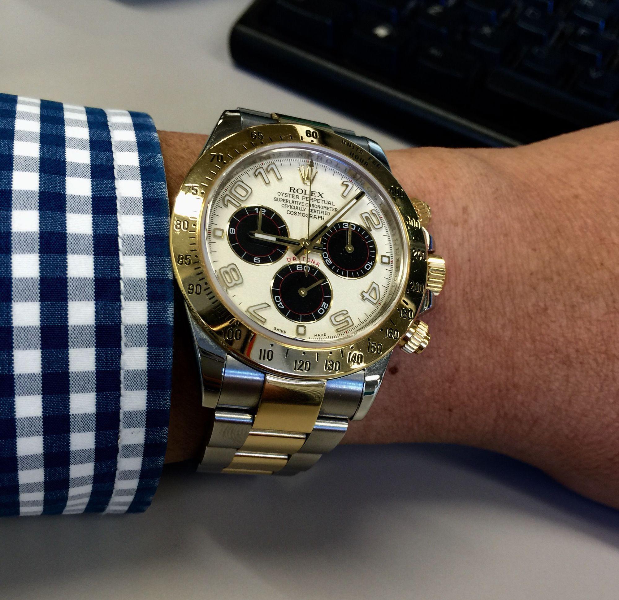 Daytona Two tone Panda Dial in office