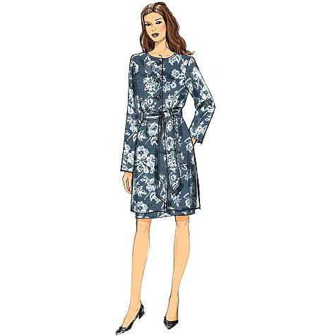 Vogue Patterns 9123 Misses\' Jacket, Belt and Dress   Sewing patterns ...