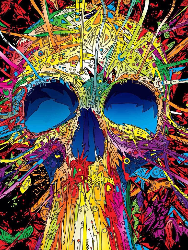 Sick skull wallpaper Trippy wallpaper, Best iphone