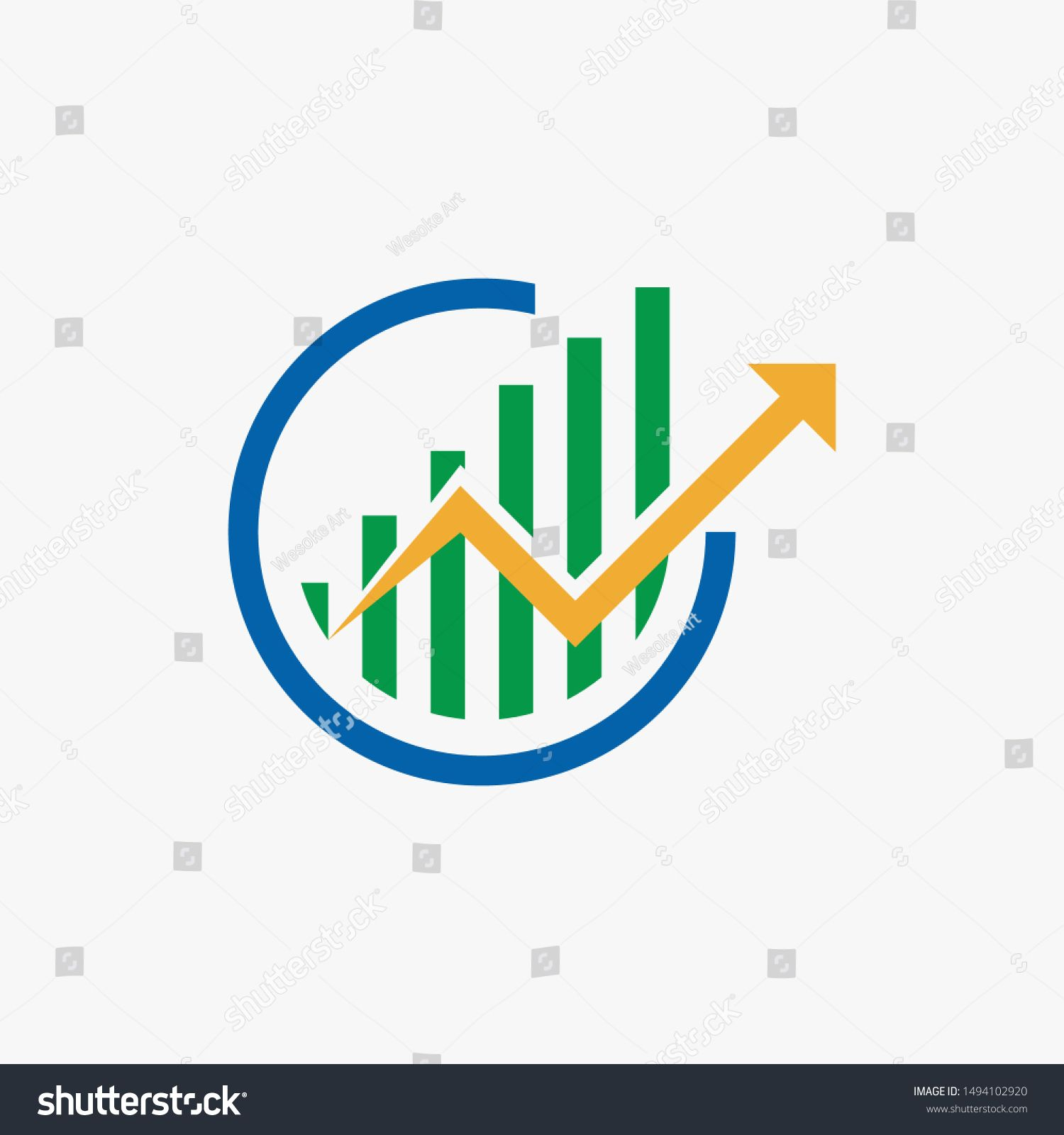 Arrow Logo Icon Growth On Hand Flat Design On A White Background Success Business Crypto Finance Trade Marketing Dollar Vector B Arrow Logo Logos Logo Icons