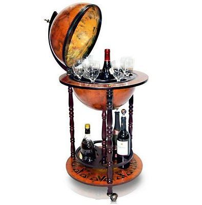 #Antique Bar Globe Trolley #drinks #beverage Cabinet Mini Office Bottle  Holder , View