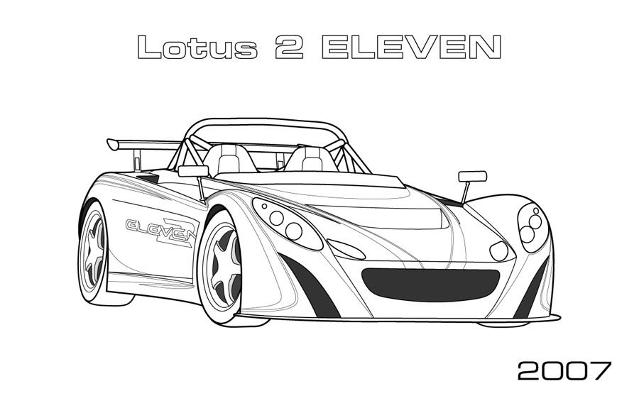 Lotus Car Coloring Pages Planestrains and automobiles