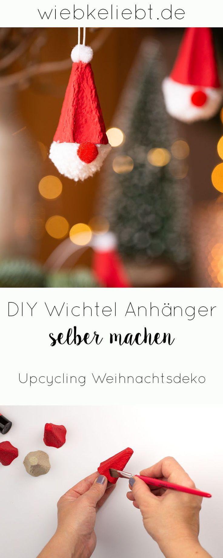 DIY Wichtel zu Weihnachten basteln als süße Weihnachtsdekoration. Die Anleitung für die Wichtel aus Eierkarton findest du auf wiebkeliebt.de #Wichtel #Weihnachten #Baumschmuck #Geschenkanhänger #Weihnachtswichtel