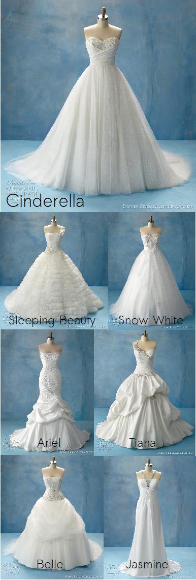 disney princess wedding dresses...i want them all | wedding | Pinterest