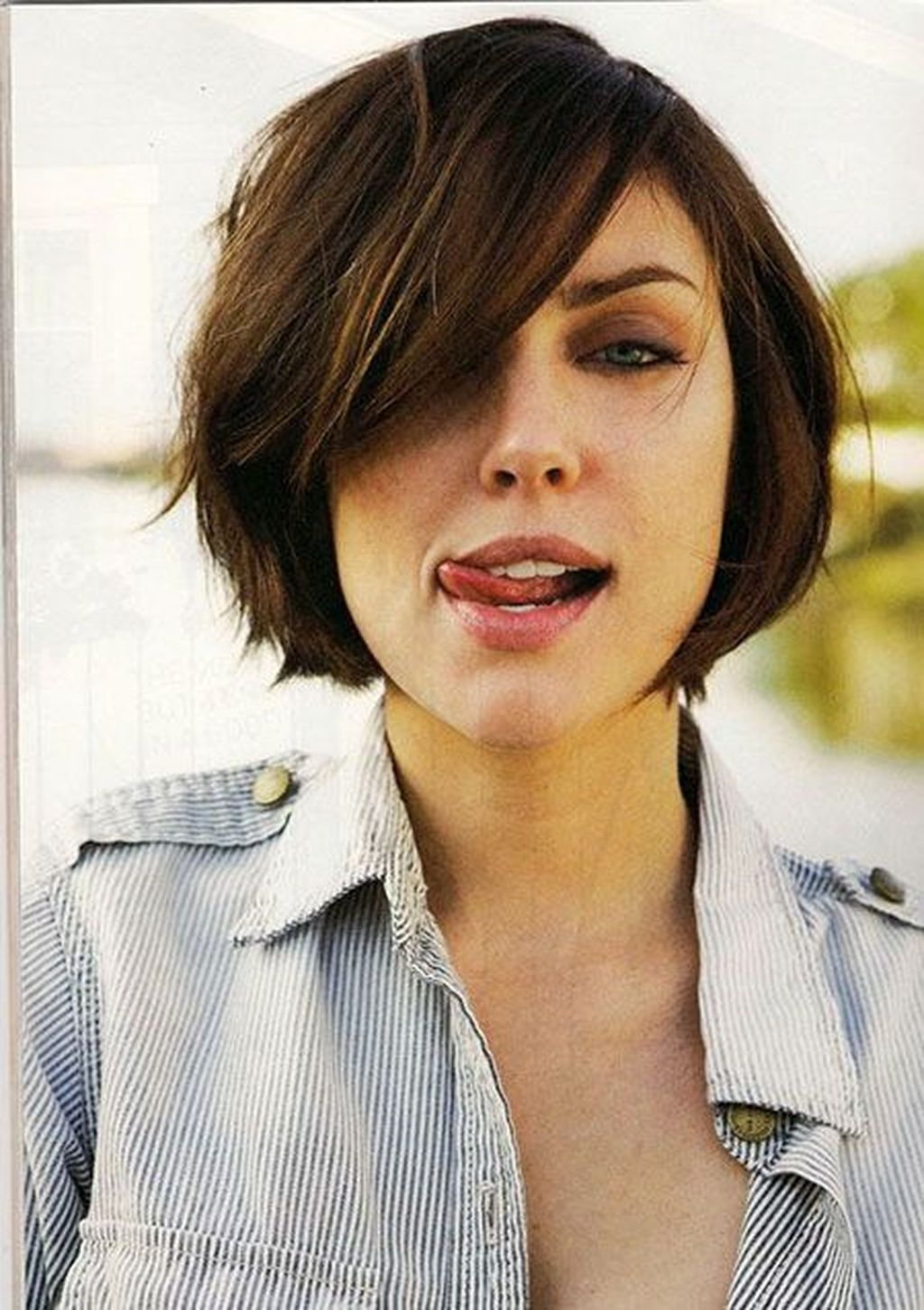 Awesome Short Hairstyles For Round Faces  Pinterest  Short