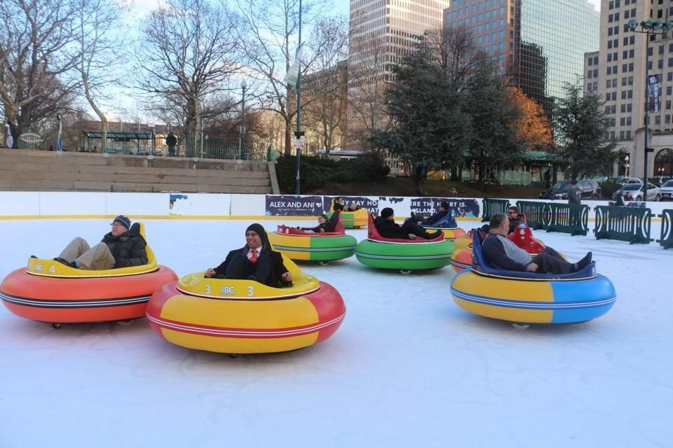 Providence has bumper cars that slide around on an ice