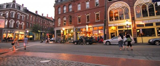 Old Port Portland Maine Historic Seaport Harbor Cobblestone Streets Bars Restaurants And Retail S