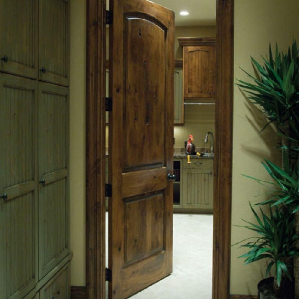 8ft Knotty Alder Arch Top 2 Panel Interior Doors In 1002 Ksr Door And Mill Comany Prehung Interior Doors Knotty Alder Doors Doors Interior