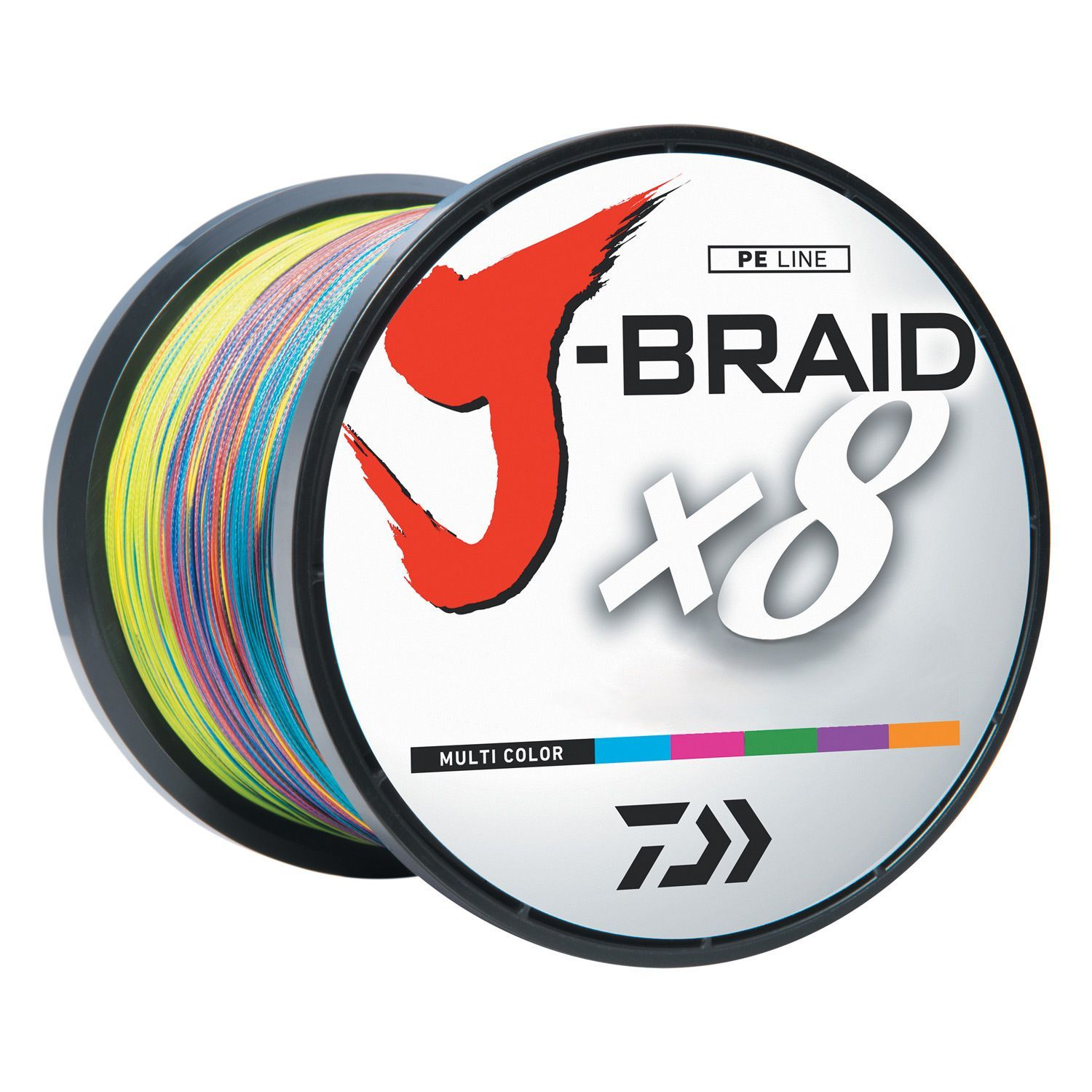 Daiwa J-Braid Multi-Color Fishing Line 1650 Yards | Fishing ...