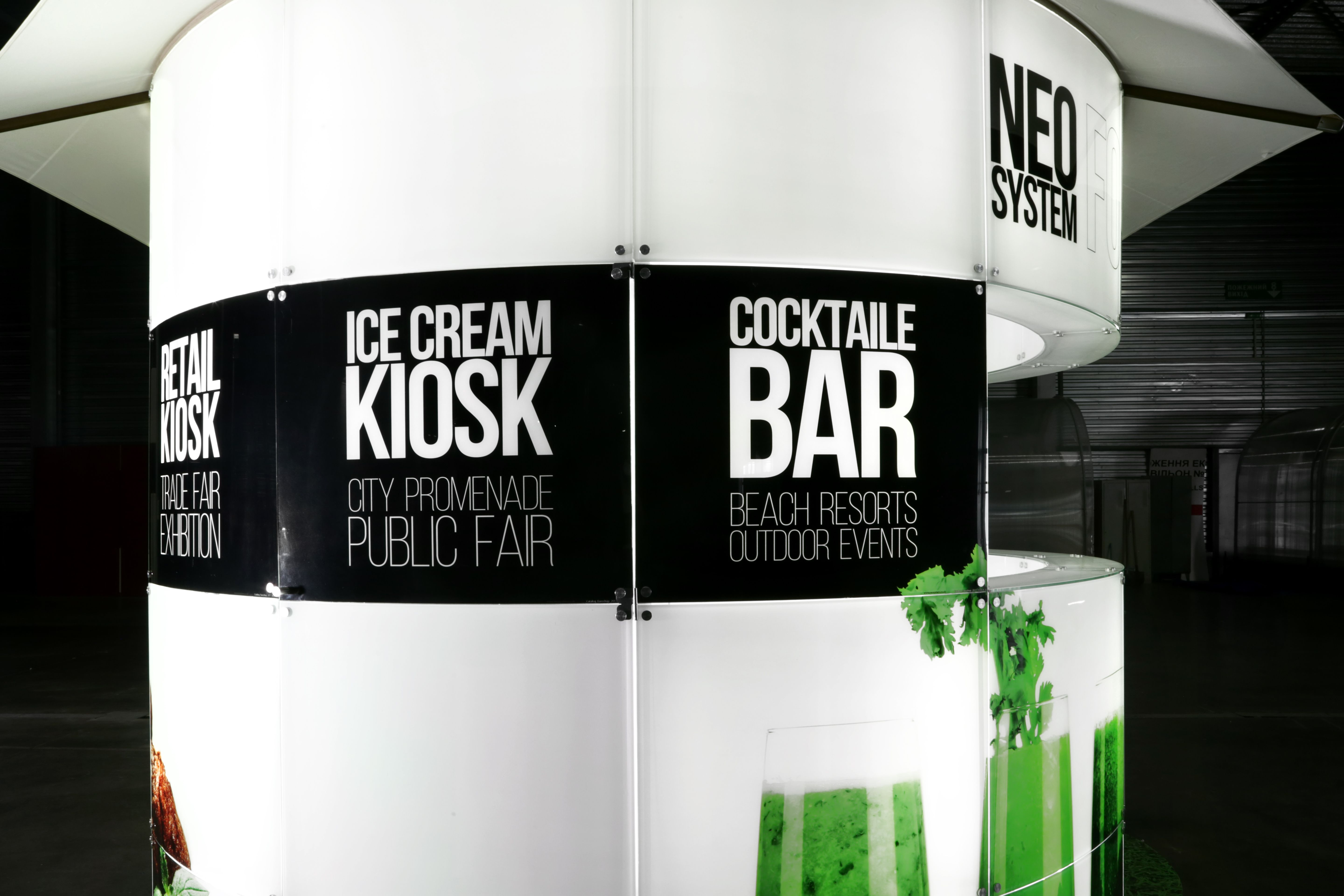 Exhibition Stand Builders London : Outdoor kiosk modular exhibition stand builders bar