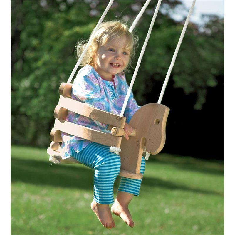 Wooden Horse Swing