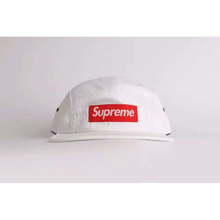 7573e29d416 Supreme Washed Chino Camp Cap (White) http   hatstash.com