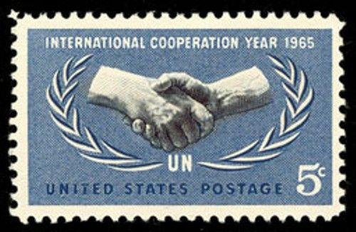 1965 5c Cooperation Year Scott 1266 Mint F/VF NH  www.saratogatrading.com
