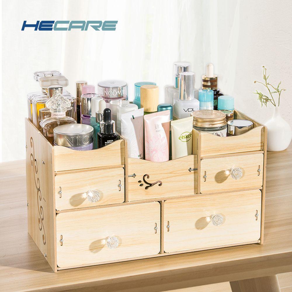 Hecare Bathroom Organizer Wooden Organizador De Batom Organizer For