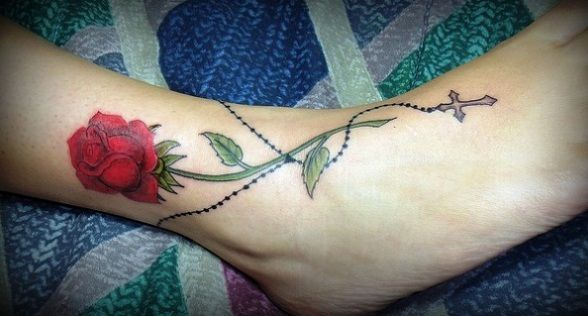 Love the rose on the ankle just would like it more with out he rosa love the rose on the ankle just would like it more with out he rosary gumiabroncs Image collections