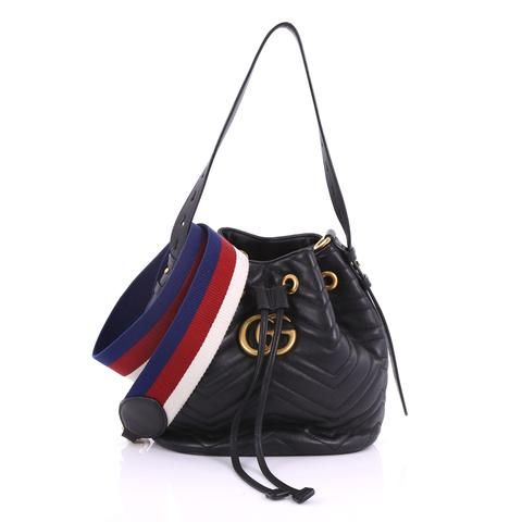 e0a168e8796d Buy Gucci GG Marmont Bucket Bag Matelasse Leather Small 3794917 – Rebag