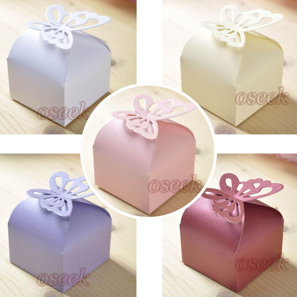 50 / 100pcs Butterfly Pattern Favor Gift Candy Boxes Wedding Party ...