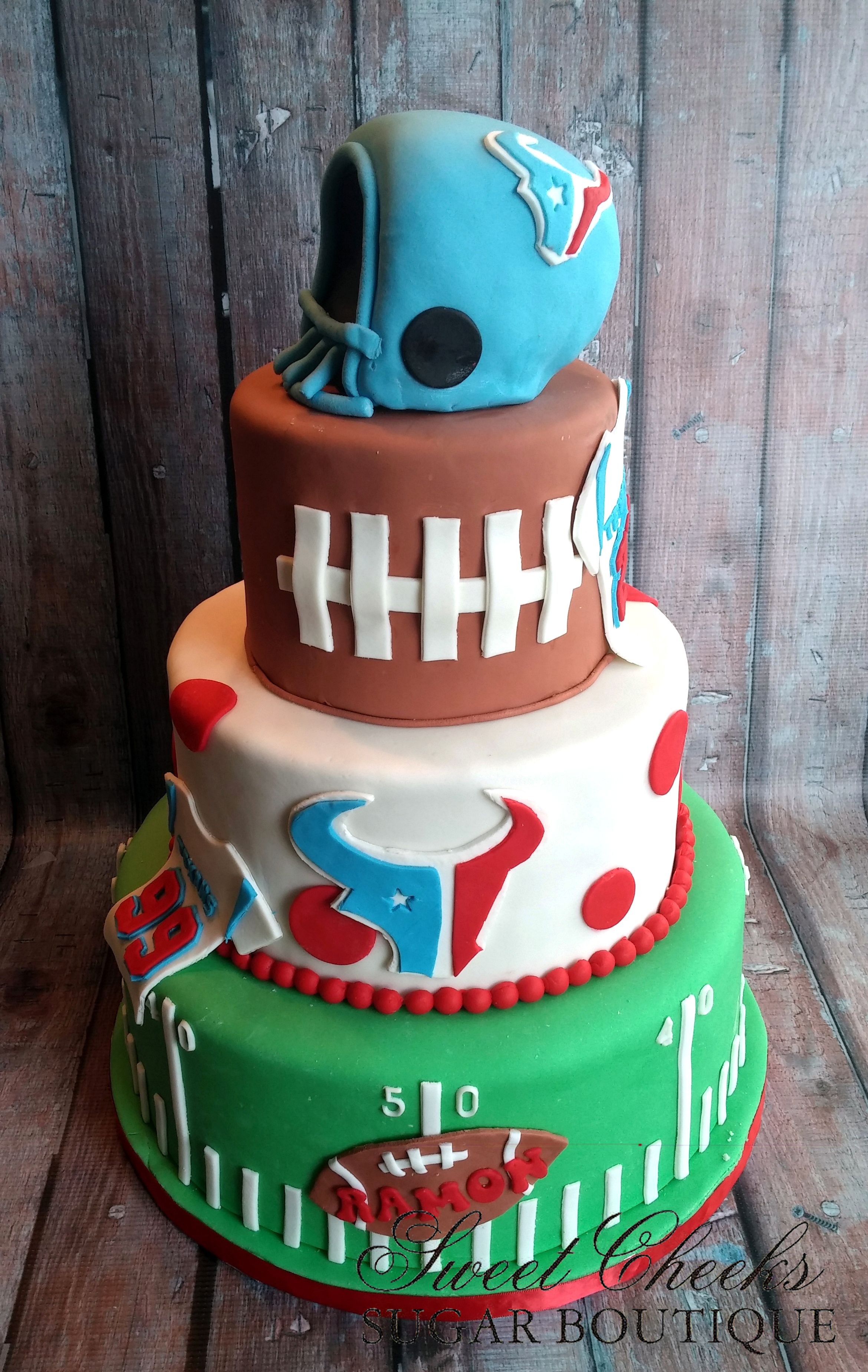 A Texans Themed Birthday Cake For Ramon Happy Birthday Sweet