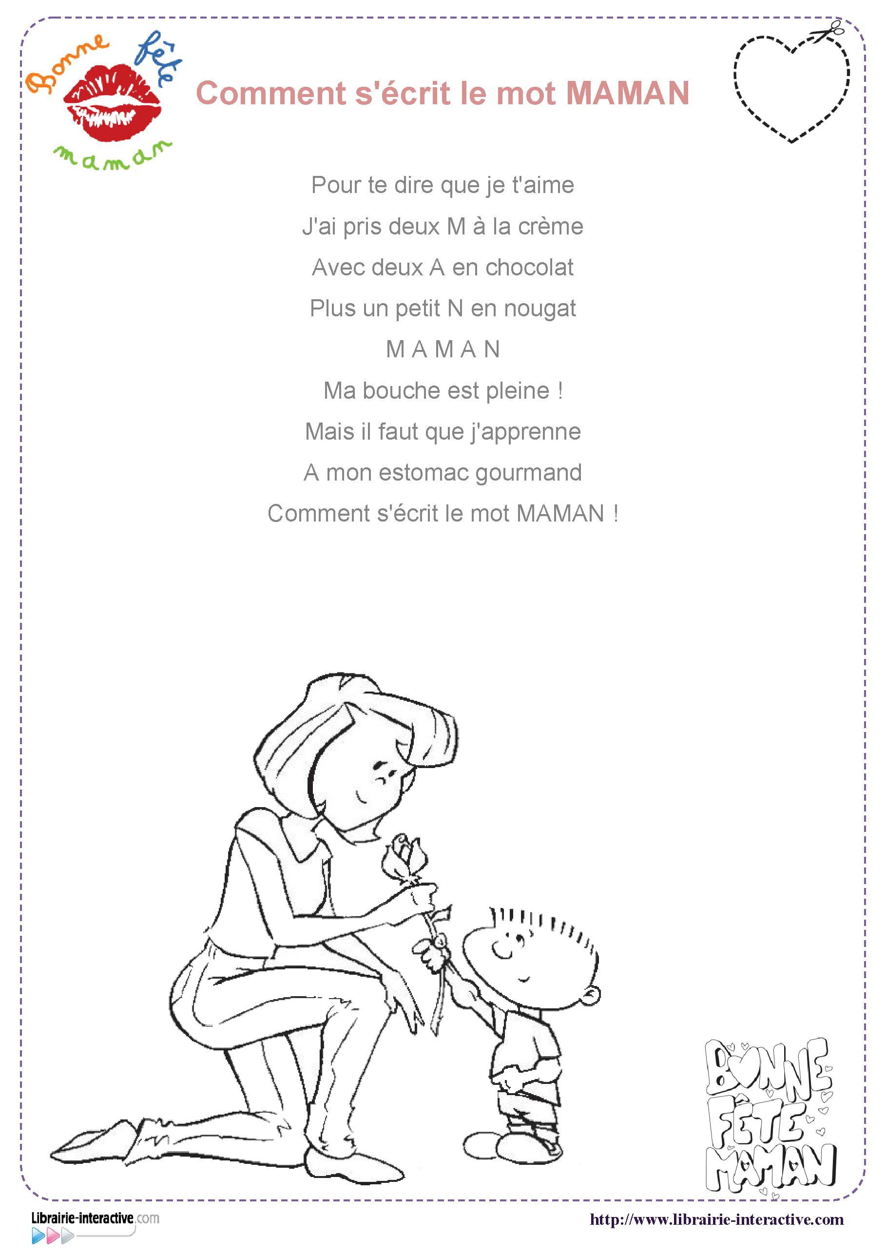 Inspirant Image Fete Des Meres A Imprimer