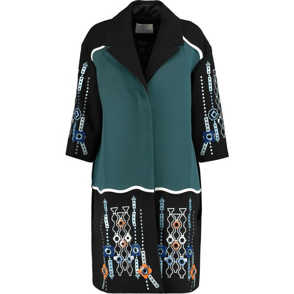 Peter Pilotto Atari embellished paneled wool and satin-twill coat  (24.482.950 VND