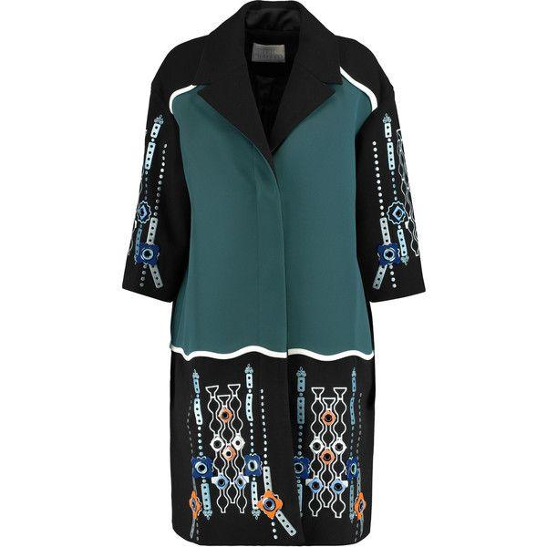 Peter Pilotto Atari embellished paneled wool and satin-twill coat  (24.482.950 VND