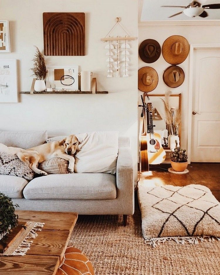 This Boho Decor Will Help You Transform Your Living Room Into A Cozy Retreat While You Could Paint T Boho Living Room Wall Decor Living Room Living Room Decor Boho living room wall decor