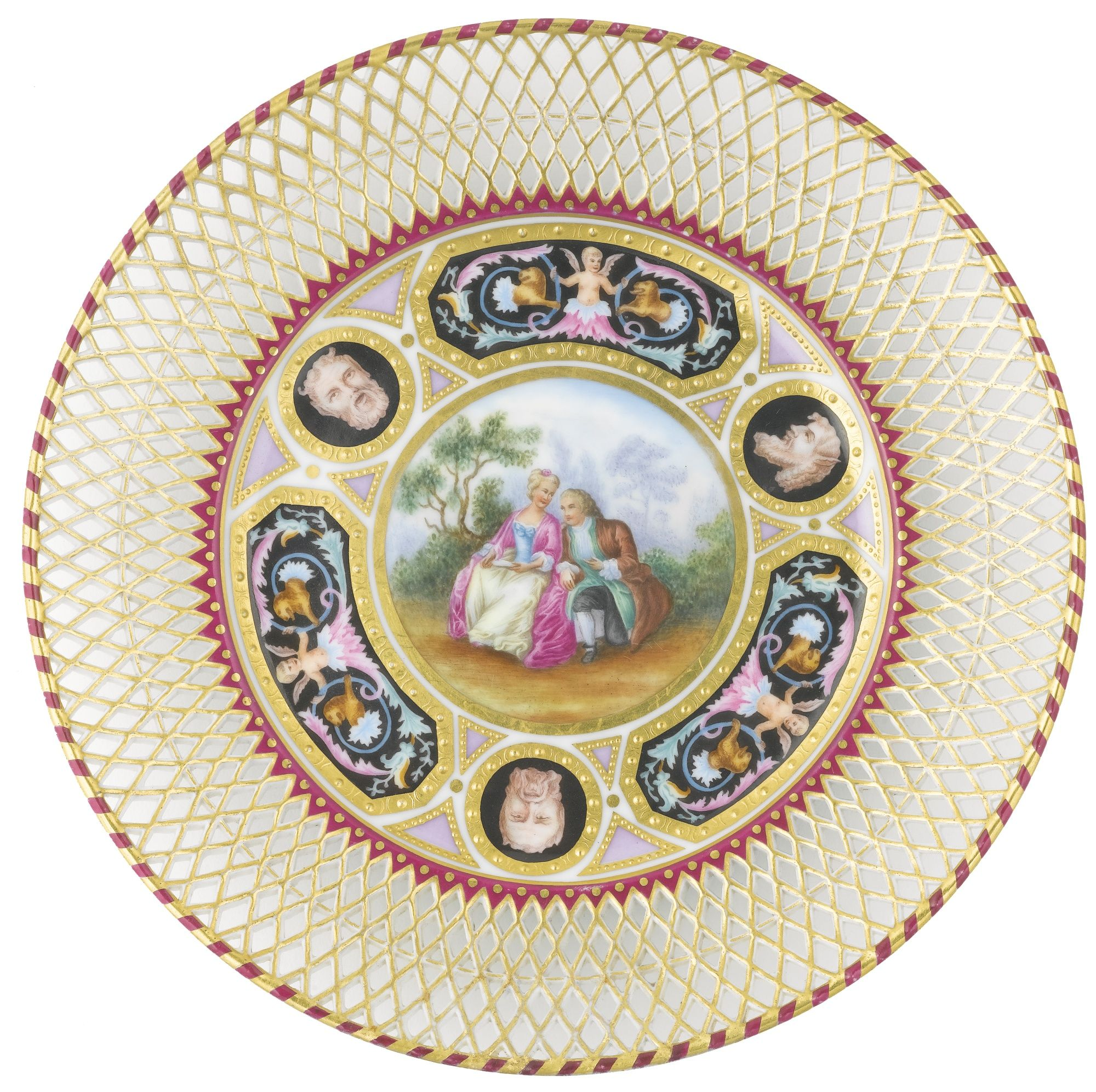 China Kitchen St Pete: A PORCELAIN CABINET PLATE, IMPERIAL PORCELAIN MANUFACTORY