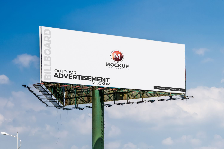 Free Outdoor Advertisement Billboard Mockup Billboard Mockup Mockup Free Psd Photoshop Mockup
