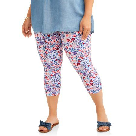 e919768acbb Terra   Sky Women s Plus Printed Capri Legging