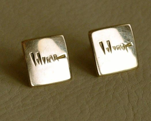 Hopi Charles Loloma Gold Earrings