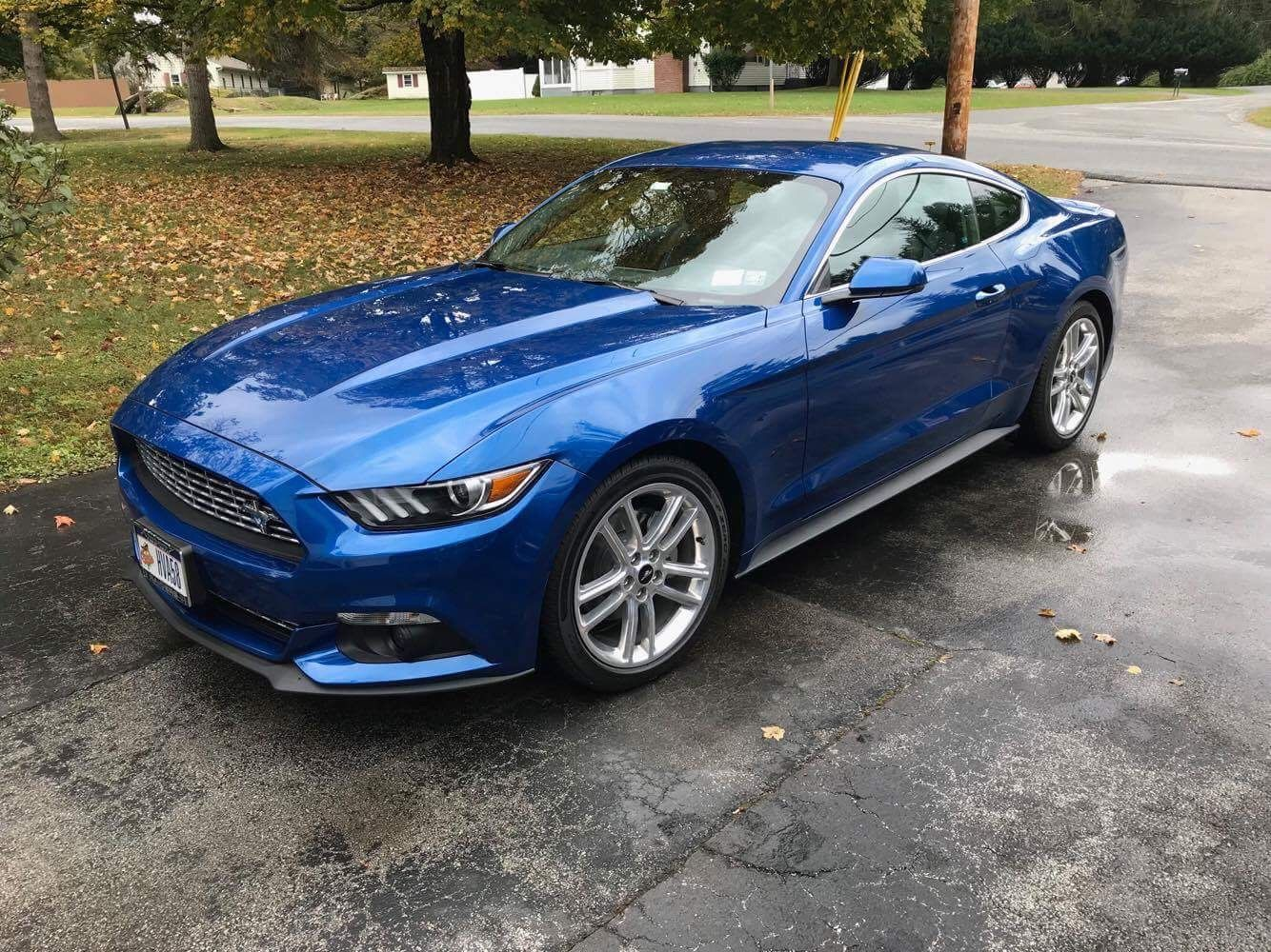 2017 Lightning Blue Ecoboost Premium Mustang With Pony Package