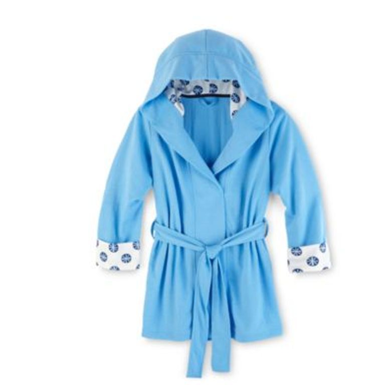 NWT Girls  Maidenform Hooded French Terry Robe in Blue - Size (10 12 ... 6d21af550