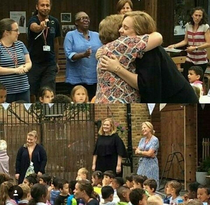 ADELE VISITED A NURSERY SCHOOL, AVONDALE PARK. I'M SO GLAD SHE'S OKAY.