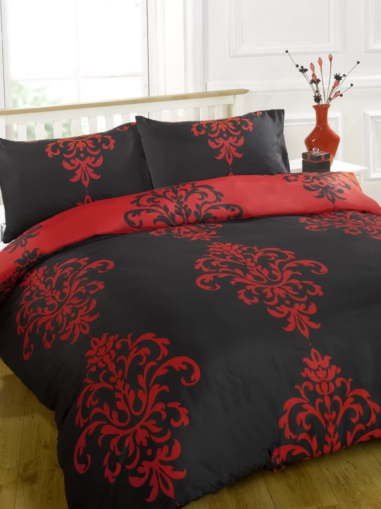Savoy Duvet Cover Bed Set Chocolate Fuchsia Black Red White Bed Set Black Bed Sheets Red Bedding