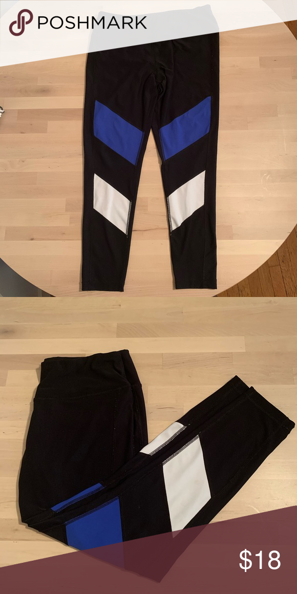 Leggings Blue And White Stripe In 2020 Leggings Are Not Pants Pants For Women Blue And White