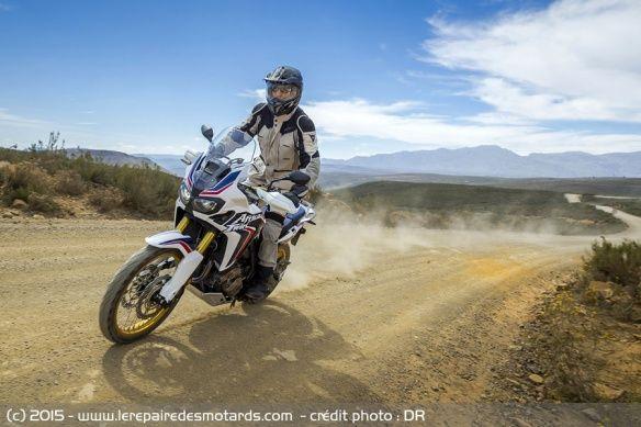 Essai sur piste Honda Africa Twin CRF1000L