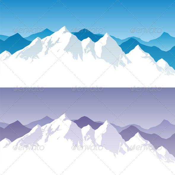 Mountain Range Achtergrond Patronen