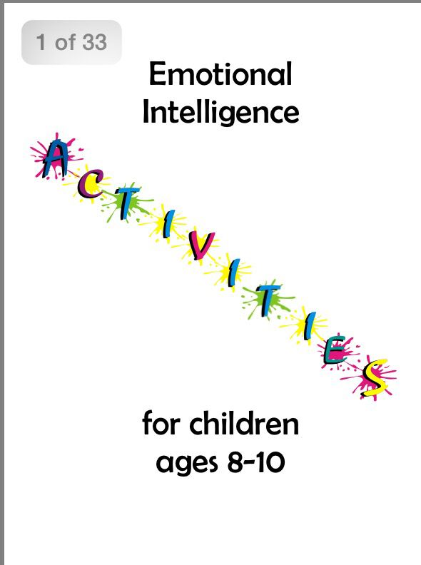 Social Emotional Intelligence Is >> Emotional Intelligence Activities Ages 8 10 Play Therapy