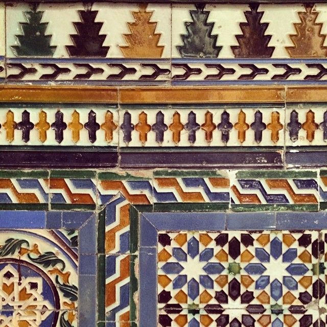 #tile at Palacio de la Condesa de Lebrija...  The Countess was a next level shopper!  #seville #trinaturk