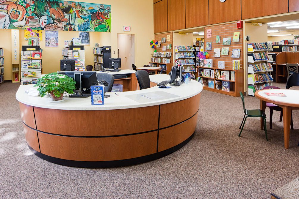 Image Result For Library Circulation Desk Design