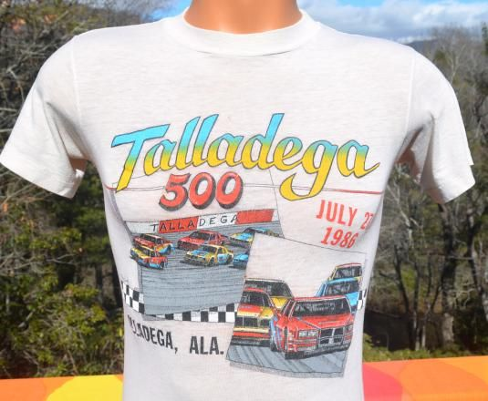 e3875bacdf8 vintage 80s TALLADEGA 500 car racing t-shirt distressed | Vintage T ...