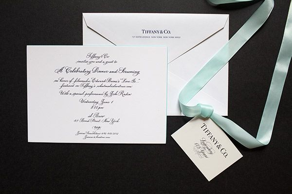 calligraphy by deborah nadel for tiffany & co