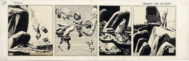 milton caniff terry and the pirates | Original Terry and the Pirates daily strip art by Milton Caniff ...