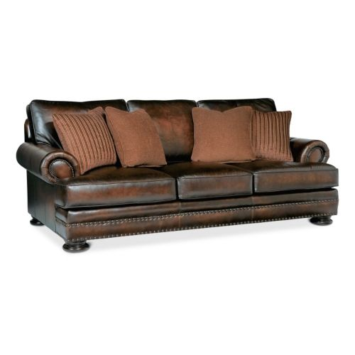 Foster Elite 98 Leather Sofa By Bernhardt Hom Furniture This Color Only Top