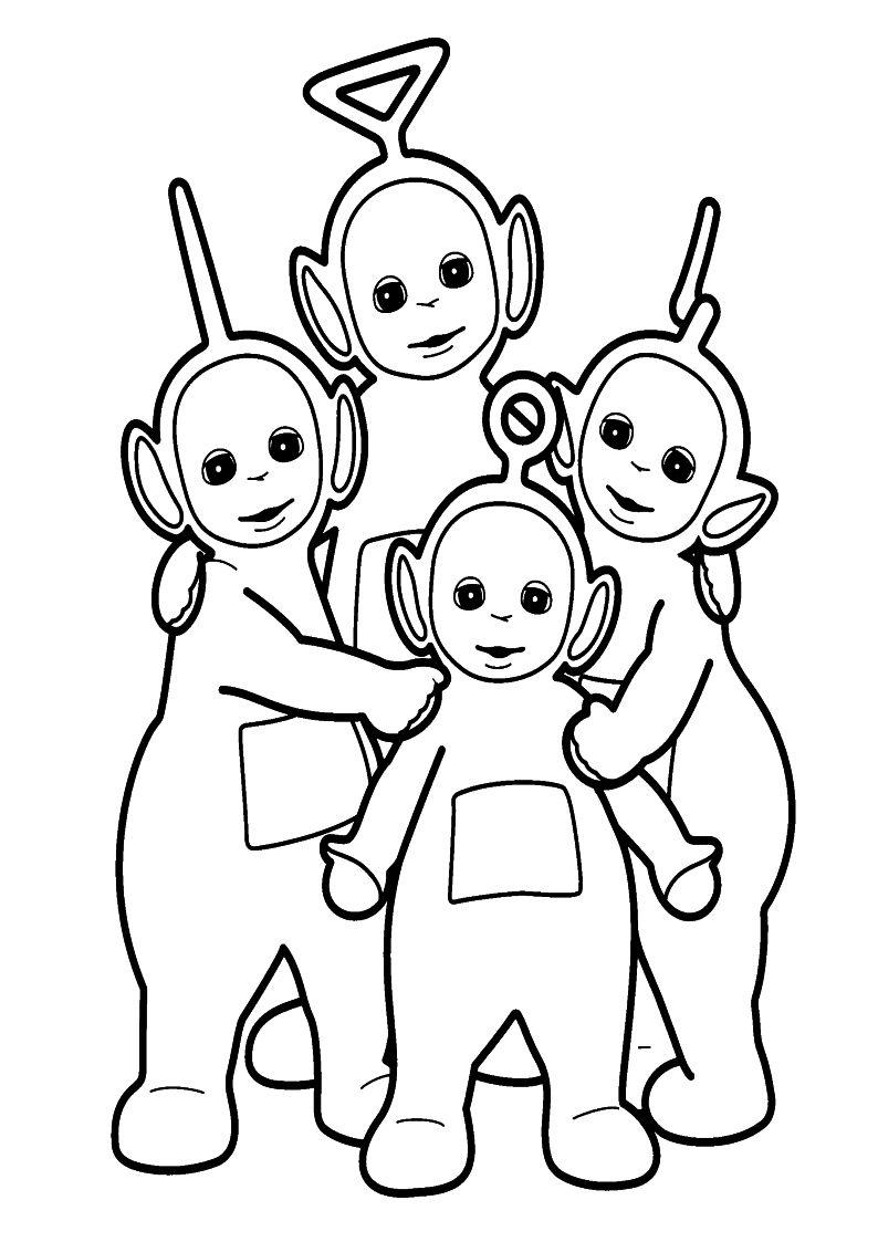 Kolorowanka Teletubisie Malowanka Do Wydruku Nr 2 Vault Boy Character Scrapbook