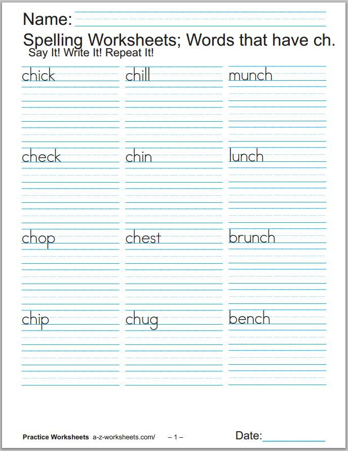 44 Phonics Worksheets Practice Phonics Words Copywork Phonics Worksheets Phonics Spelling Worksheets