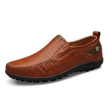 Cuir hommes appartements mens chaussures condui... Ao3XBam