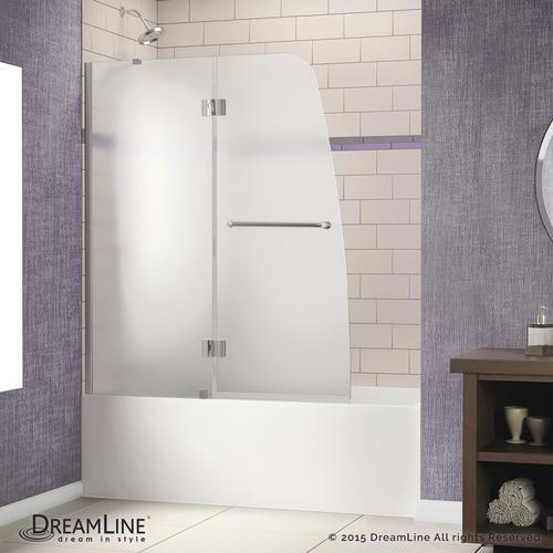 Dreamline Aqua 48 Hinged Tub Door Frosted Glass Door At Menards